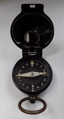 Russian officers field compass