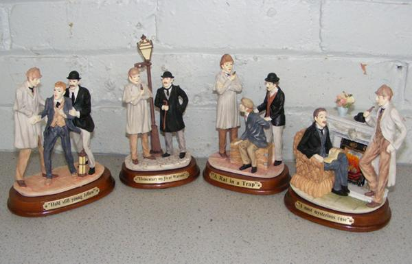 Collection of four limited edition Sherlock Holmes figurines