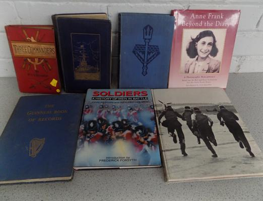 Collection of military vintage books