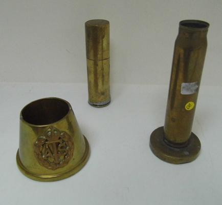 Three pieces of trench art - lighter may need some repair