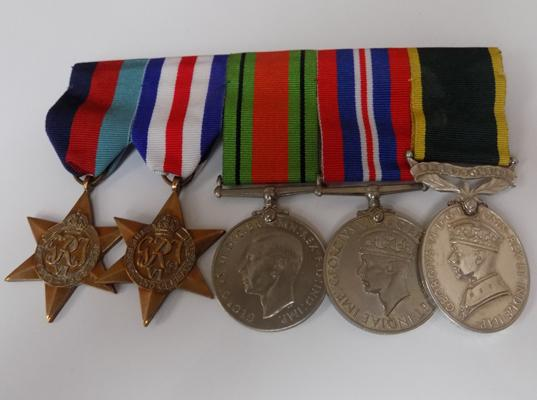 Set of 5 WWII medals