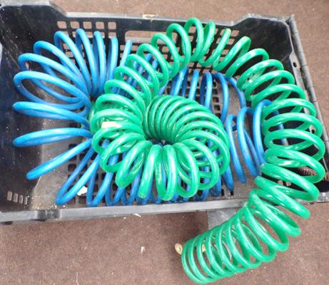 2x Hoses-coiled