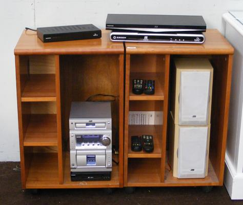 2 entertainment units with Hi-Fi & Blu Ray player etc...