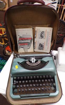 Imperial portable typewriter with case & manuals