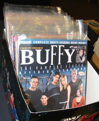 Box of Buffy The Vampire Slayer magazines + others