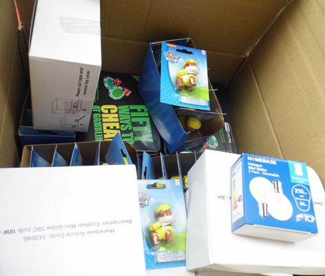 Box of mixed new items inc Paw Patrol