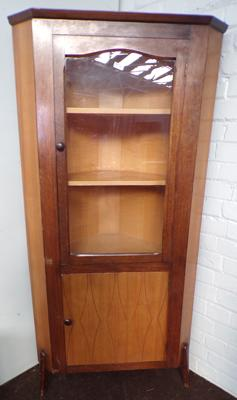 Maple & Co. corner display cabinet
