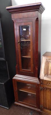 1890's solid oak Grandfather display cabinet