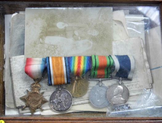 WWI & II medal set for W.J. Osborne, 8896 Royal Marine Commando Light Infantry. Five medal set + full service history & letter from Admiralty
