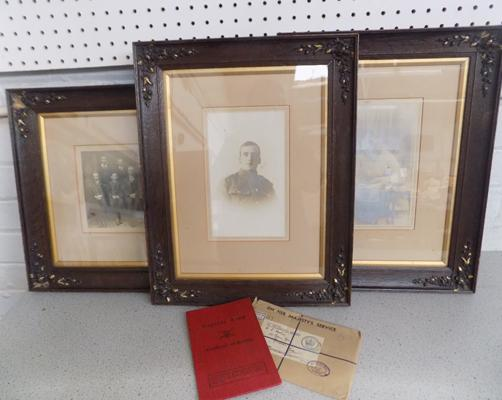 Royal Engineers A Hopkins framed photograph & Army certificate of service 1953-1960 with additional family framed photos