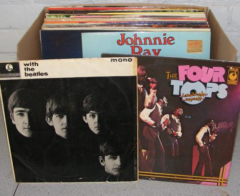 Box of LPs