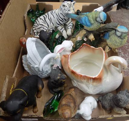 Box of animal ornaments