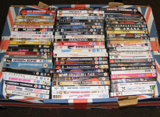 Box of DVD's approx 74