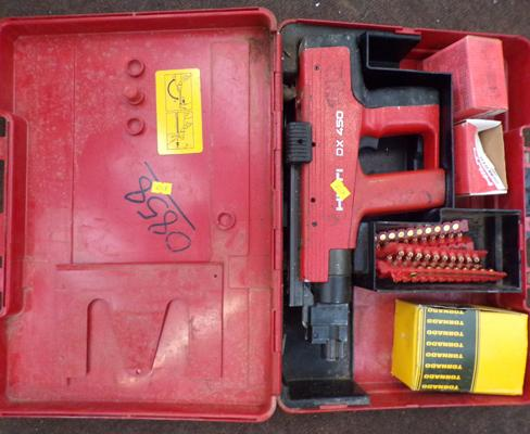 HILTI DX450 with bits, studs, boxed x 3