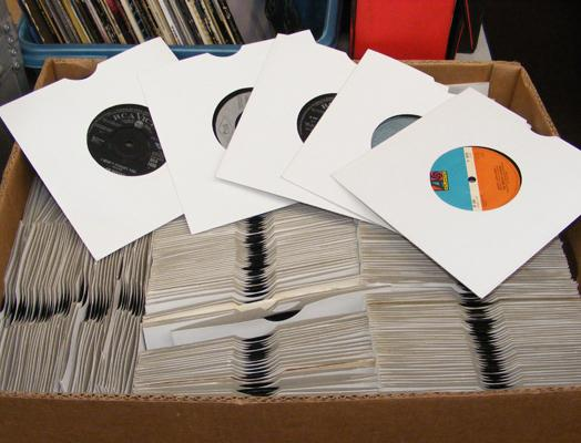 "Box of 7"" singles approx 250"