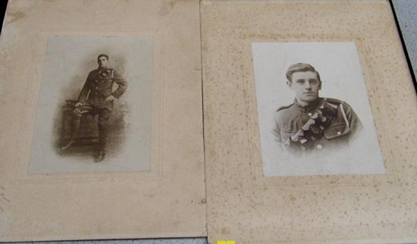 2 pictures of Bradford soldiers