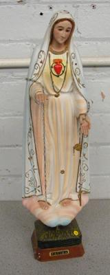 Our Lady of Fatima Virgin Mary figurine approx 19 inches tall