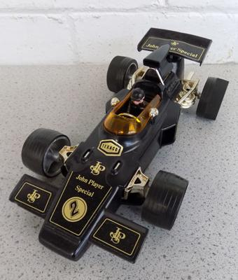 Vintage 1950 key wound friction driven no.3137 J.Player special racing car, forward drive W/O