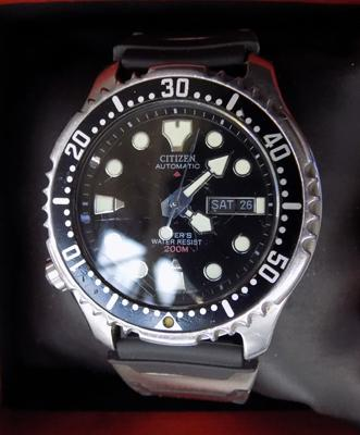 Citizen pro-master military divers watch - automatic W/O