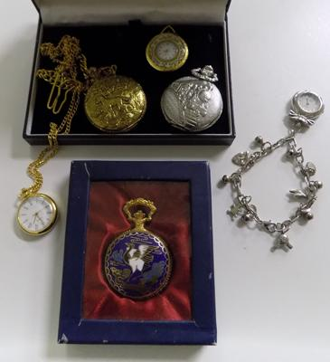 6x Ornate pocket watches