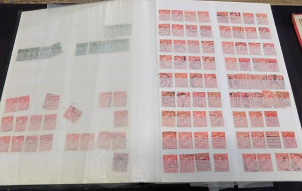 Stockbook of GB stamps - early, modern