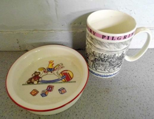 Tiffany & Co child's bowl with Wedgwood tankard