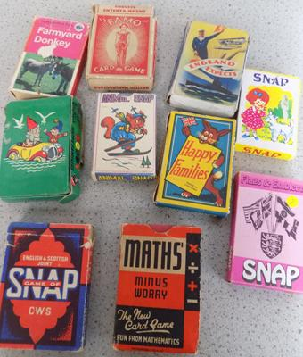 Collection of 10 packs of 1950's playing cards