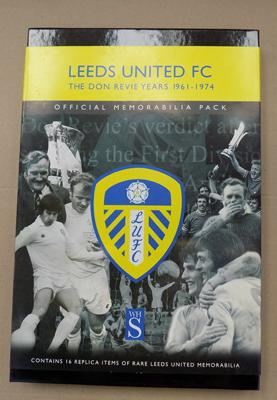 Leeds utd. FC - Don Revie years 1961-74 official memorabilia pack incl. programmes, letters, hat, cards etc.