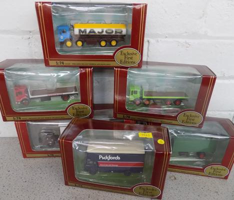 6x Exclusive first edition trucks - all boxed