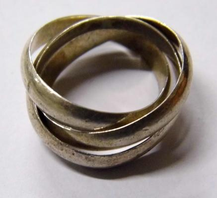 Silver Russian wedding ring