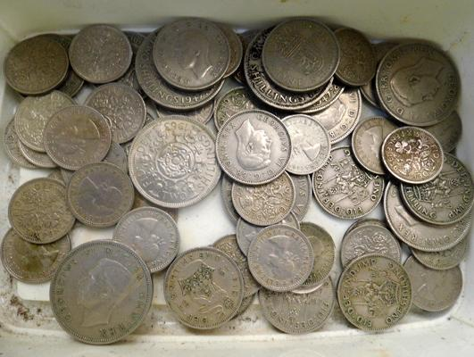 Assortment of English coins