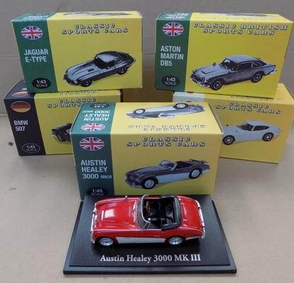 5x Atlas Editions classic cars boxed-good condition