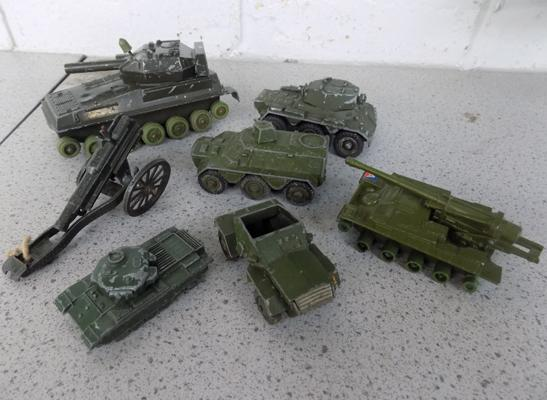 Assortment of military vehicles
