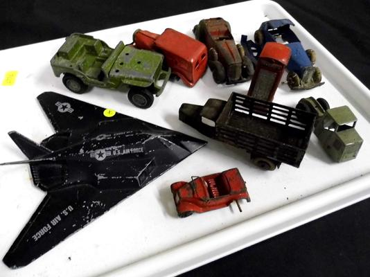 Assortment of pre-war diecasts inc Tri-ang & Dinky