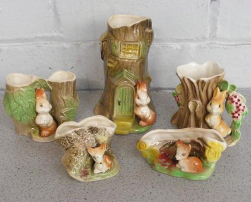 Selection of Fauna rabbits & Deer by Hornsea