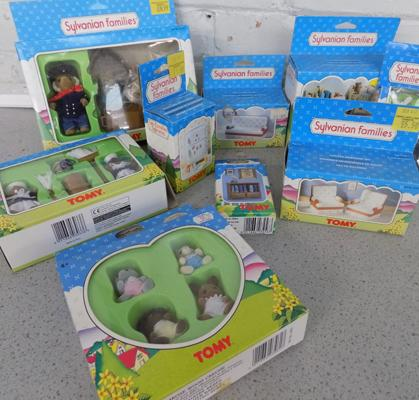 Sylvanian Families large collection of Tomy figures & furniture