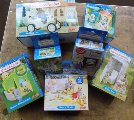 Sylvanian Families collection of Flair sets inc furniture x7