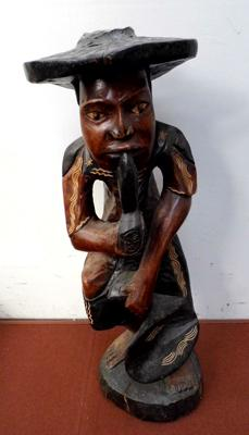 Large carved smoking figurine approx 80cm tall