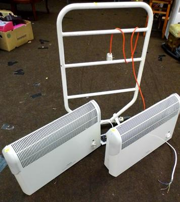 Pair of electric heaters and a heated towel rail