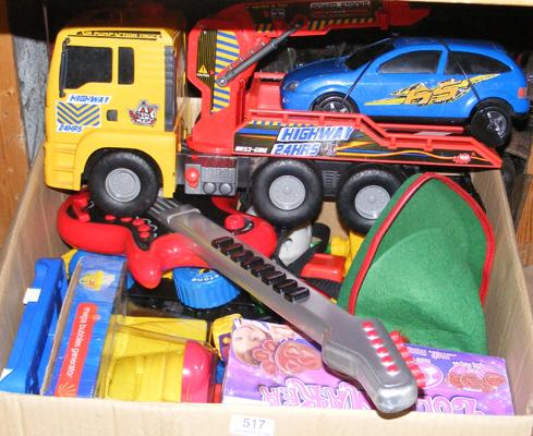 Mixed box of kids toys