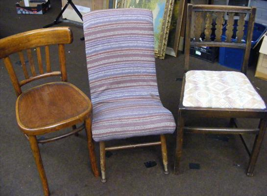 Selection of three vintage chairs