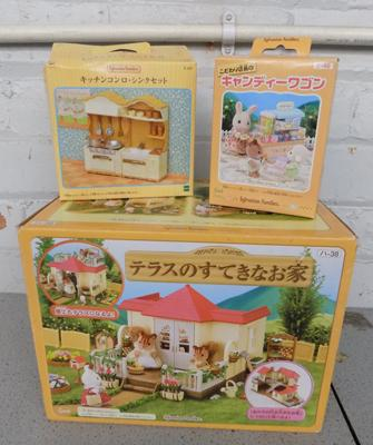 3x Epoch (with Chinese titles) Sylvanian Families sets