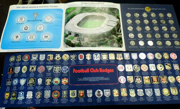 2x Folders of Football collectables