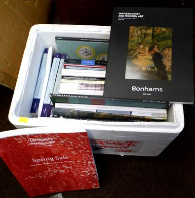 Box of auctions catalogues