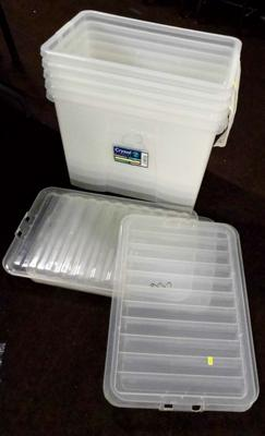 5x Stacking boxes with lids
