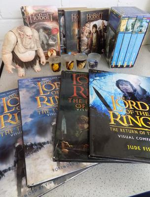 Hobbit collectors figures, Hobbit DVD trilogy and other 'Lord of the Rings' collectables