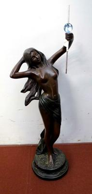 Bronzed lady figure approx 50cm tall
