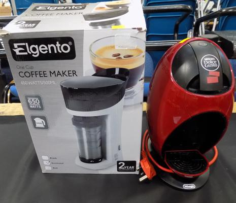 Unused Eleganto coffee maker + 1 other-Nescafe Dolce Gusto (used)
