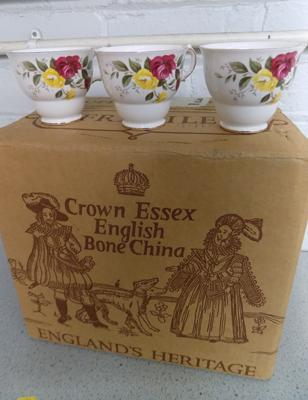 Staffordshire Crown complete teaset-Richmond Rose