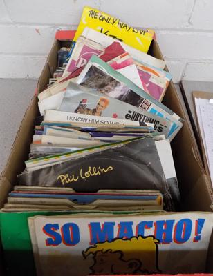 "Box of 7"" singles - excellent condition"